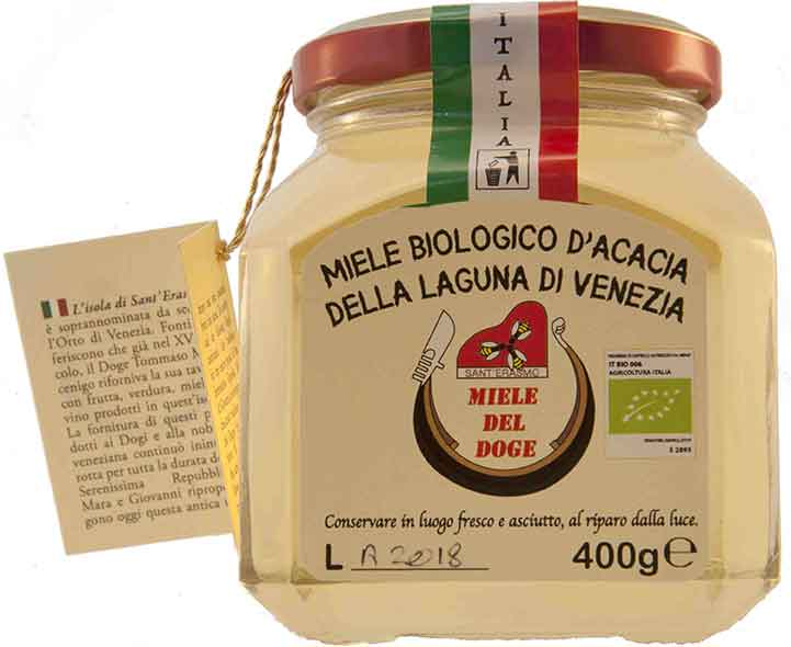 organic honey from Venice: acacia