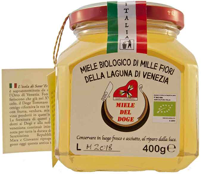 organic honey from Venice: spring wildflower