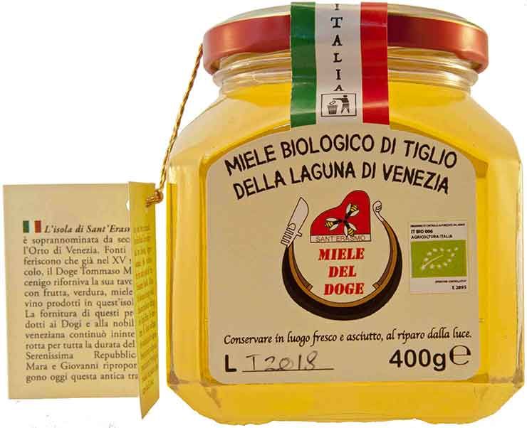 organic honey from Venice: linden
